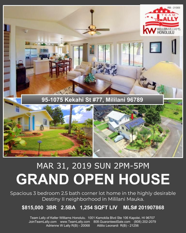 Grand open house this sunday in mililani march 31 200