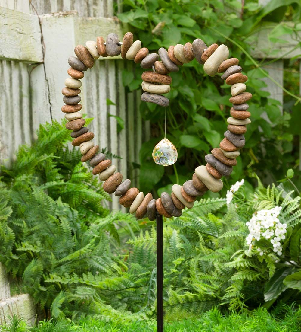 Rock Heart Decorative Garden Stake in Garden Stakes | DIY ...