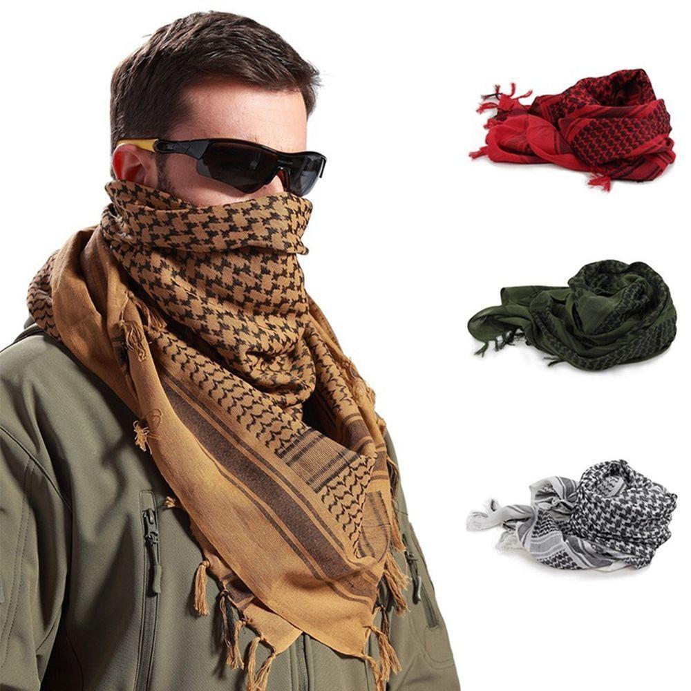 UK Mens NeckerchieTactical Army Shemagh KeffIyeh Military Arab Scarf Mask Wrap