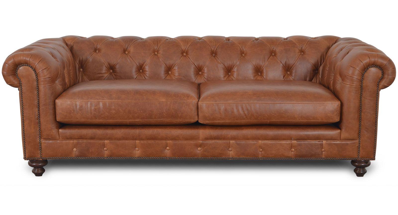 Kensington Sofa The Leather Sofa Company The Scalloped And Tufted Back Along With The Large Deep Cushions And O Sofa Company Leather Furniture Leather Sofa