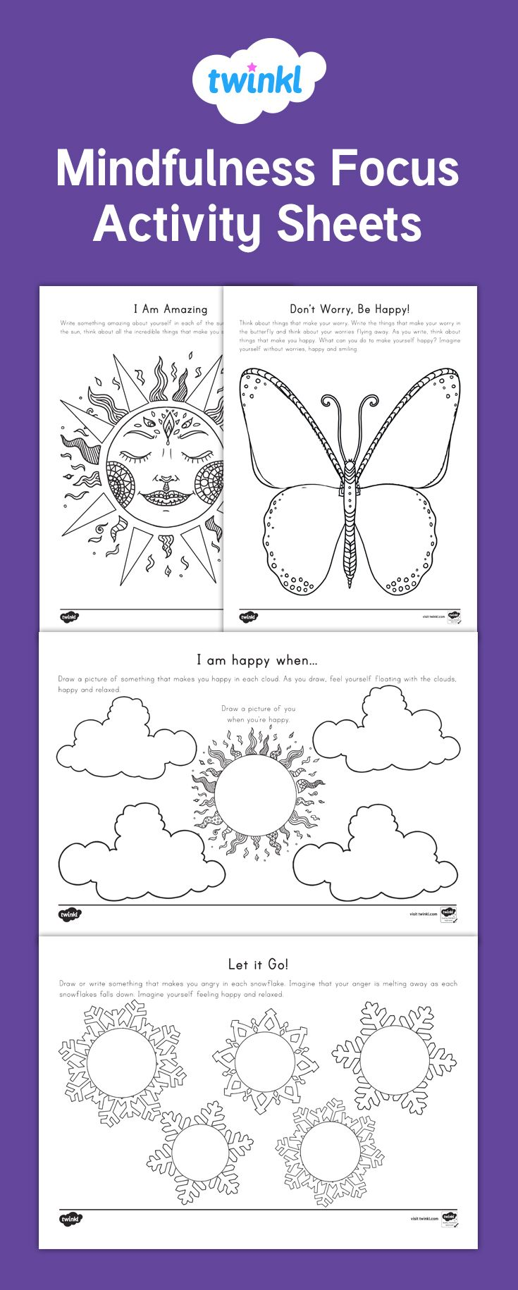 Use these activity sheets to help students focus and