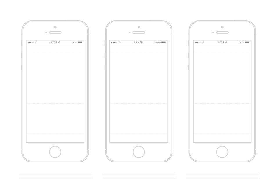 iphone 5s template wireframe prototyping pinterest mockup