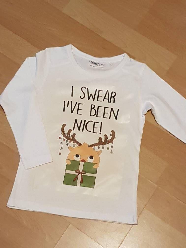 Kids Christmas top, funny Christmas tshirt, cute kids tshirt, I\'ve ...