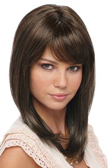 short and medium length wispy layered