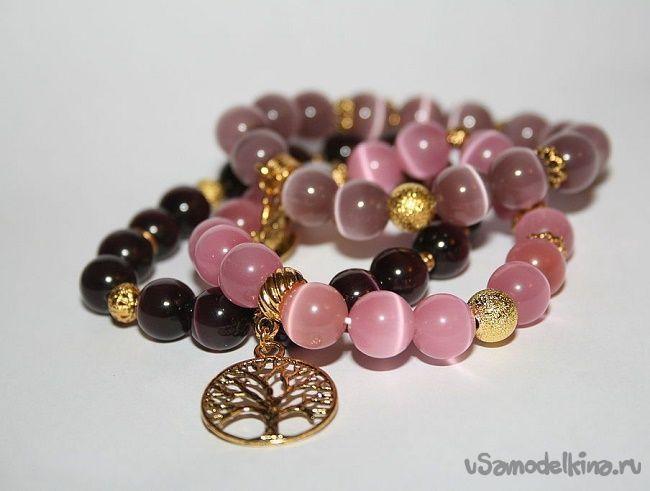 браслеты из натуральных камней своими руками рукоделие Healing
