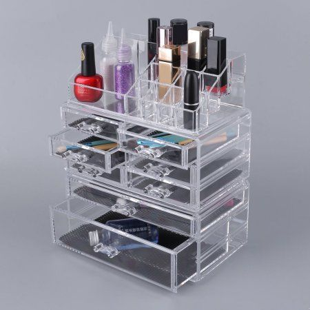 5 Tier Acrylic Cosmetics Case Makeup Box Multifunctional Make Up