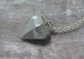 Kette Beton Diamant silber