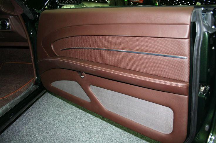 Smitty 39 S Custom Automotive Chevelle Green With Brown Interior Custom Door Panels Panel Car Upholstery Street Rod Interior Car Interior