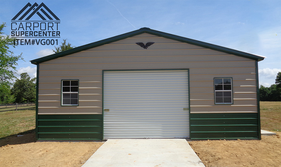 Vertical Roof Garage 24 X41 X9 In 2020 With Images Metal Garage Buildings Metal Buildings Roofing