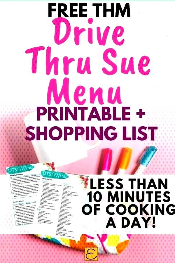 this super simple Drive Thru Sue THM Menu to stay on plan! These Drive Thru Sue meal ideas, menu, a