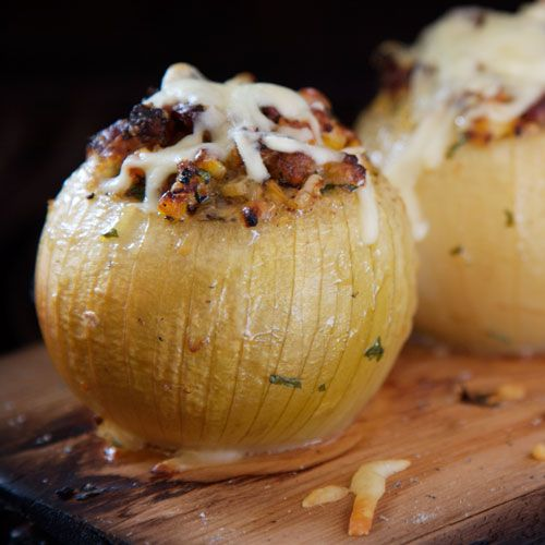 Grilled Stuffed Sweet Onions. Sounds good actually!!