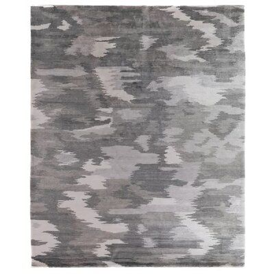 Exquisite Rugs Hand-Knotted Dark Gray Area Rug | Perigold