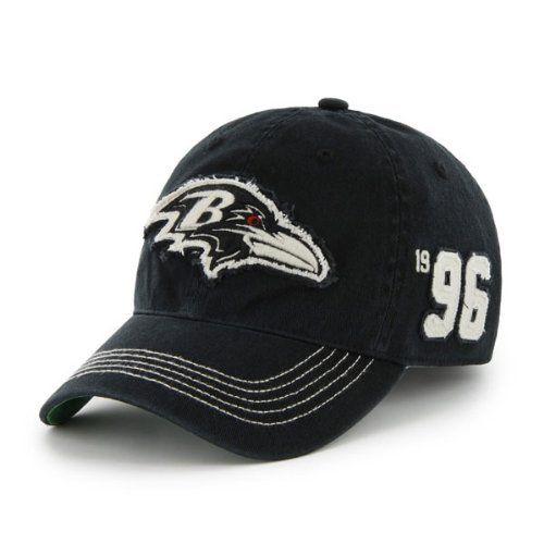7f19b3e0a4f Baltimore Ravens 47 Brand NFL Throwback Badger Black Franchise Flex Fit Hat  by  47 Brand