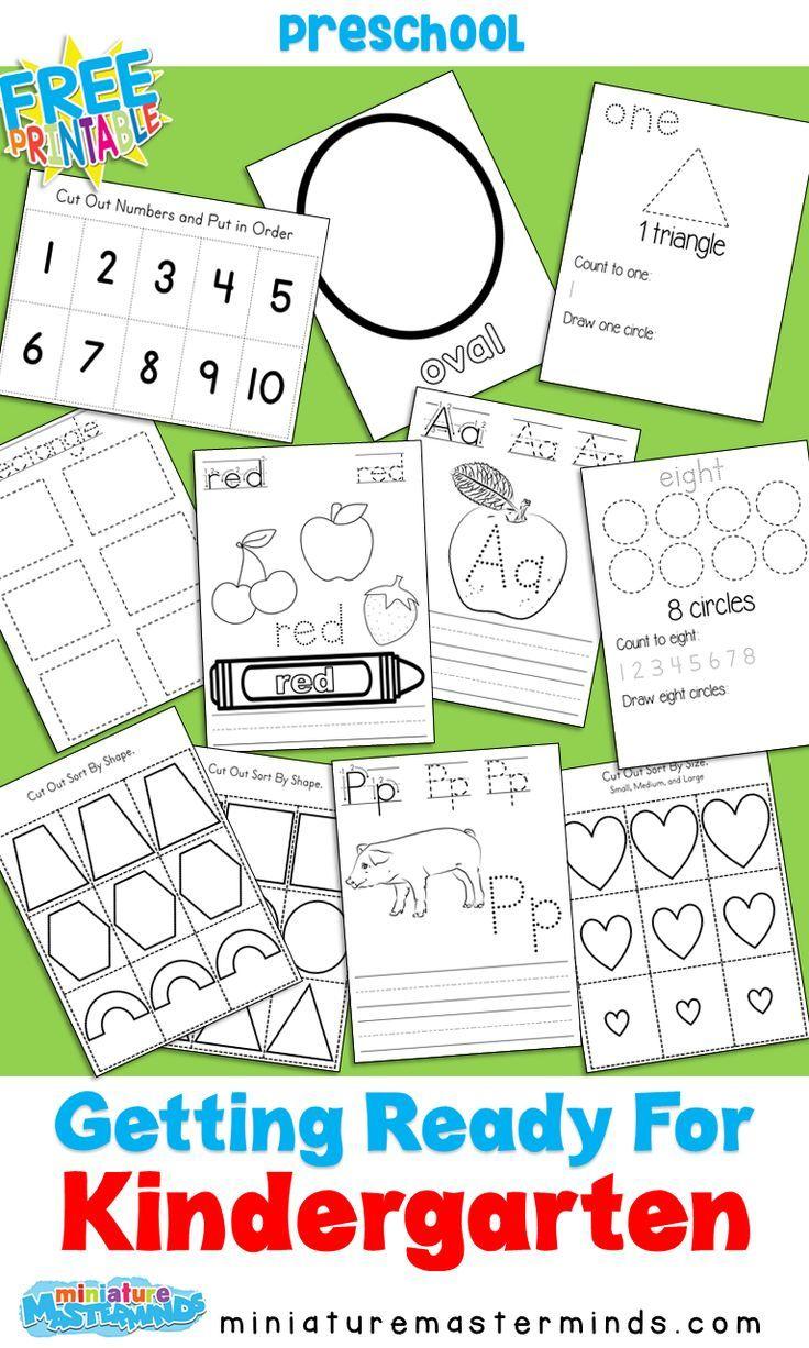 Getting Ready For Kindergarten No Prep Pack And Suggestions Kindergarten Readiness Kindergarten Preschool [ 1226 x 736 Pixel ]