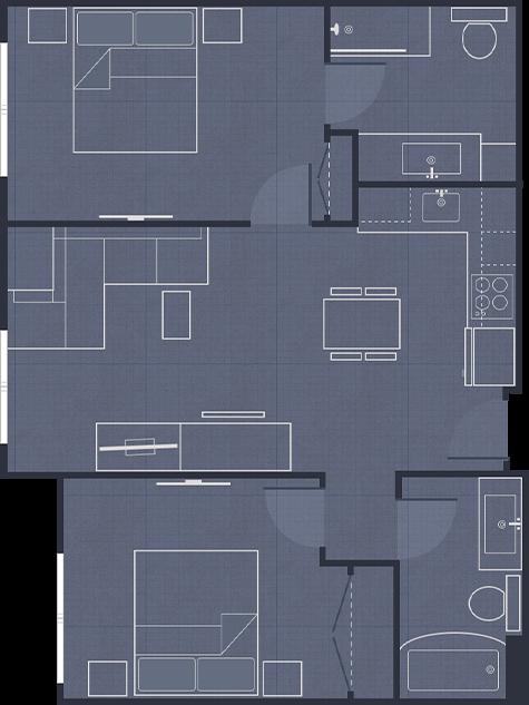 Hotel Suites Extended Stay Residence Inn By Marriott Hotel Floor Plan Two Bedroom Floor Plan Hotel Floor