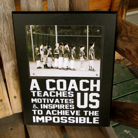Coach Gift Coach Frame Sports Team Frame Picture Frame Personalized ...