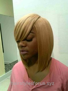 Weave Hairstyles › Quick Weave Bob With Bangs › Short Quick Weaves ...