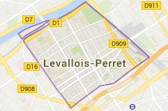 Levallois-Perret France: carte
