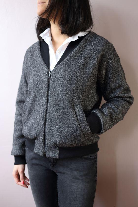 veste bombers couture pinterest vestes patron et patron de couture. Black Bedroom Furniture Sets. Home Design Ideas