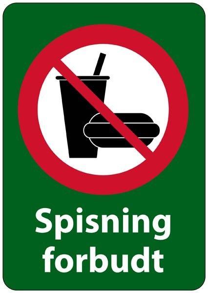 Spisning forbudt forbudsskilt