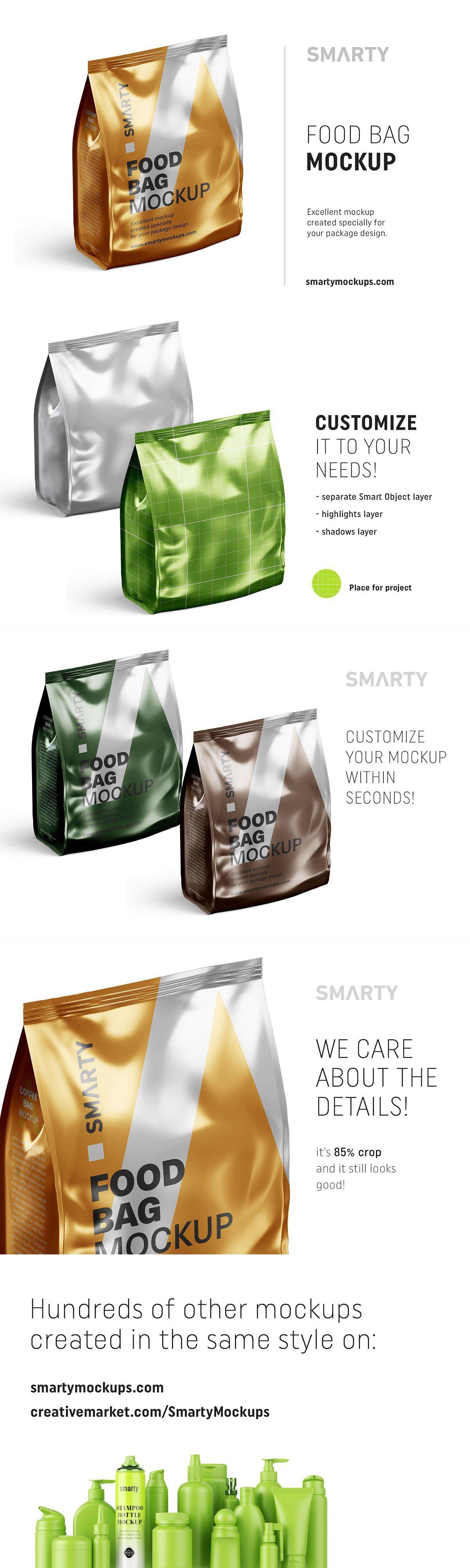 Download Metallic Food Bag Mockup Bag Mockup Mockup Metal