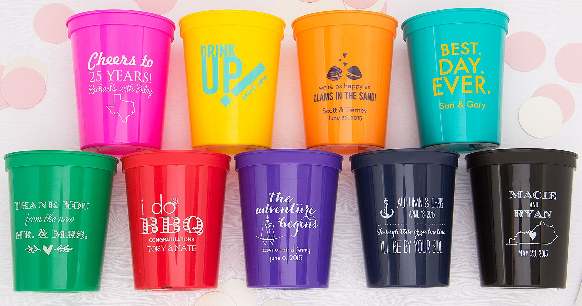 Personalized Party Cups Design Your Own Party Cups Foryourparty Com Party Cups Personalized Party Cups Custom Plastic Cups