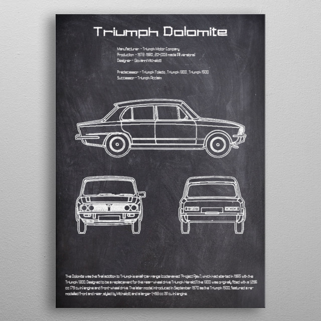 Triumph Dolomite by FARKI15 DESIGN | metal posters - Displate | Displate thumbnail
