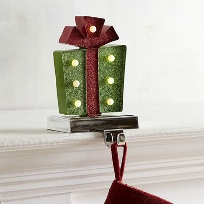 LED Green Gift Stocking Holder (With images)   Unique ...