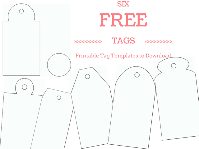 Make your own custom gift tags with these free printable tag make your own custom gift tags with these free printable tag templates negle Gallery