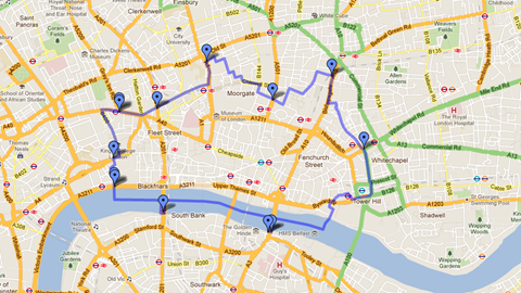 Map Of London Located On The River Thames London Has Been A - Where is london located