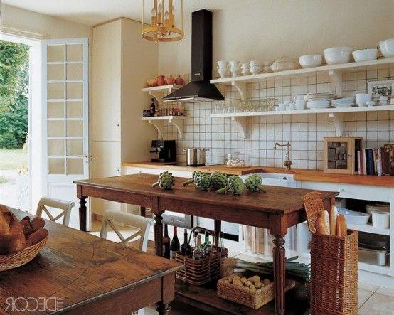 28 Vintage Wooden Kitchen Island Designs | DigsDigs | Traditional ...