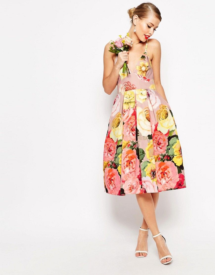 What To Wear To A May Wedding Spring Wedding Guest Dress Floral Prom Dresses Wedding Guest Dress