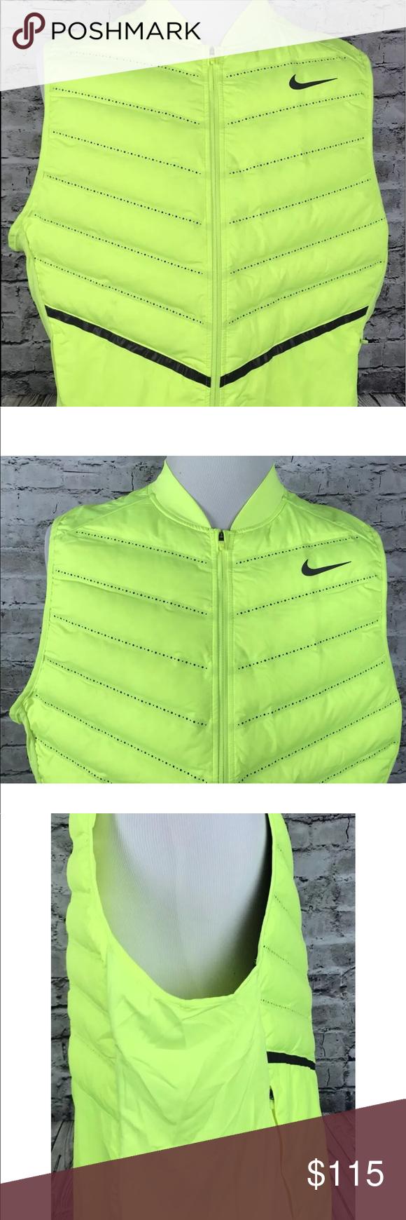 a72231db5877 Nike Aeroloft Down Packable Running Vest Sz XXL Nike Aeroloft 800 Running  Vest Volt New Men s Down 800497 702 Size 2XL. P5 Nike Jackets   Coats Vests