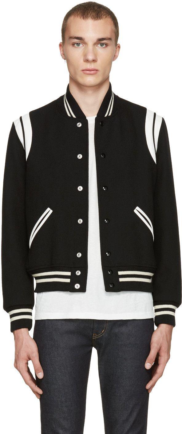 0d84dfa36 SAINT LAURENT Black Teddy Bomber Jacket. #saintlaurent #cloth ...