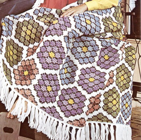 Tiffany\'s Hexagon Granny Squares Crochet Blanket Pattern | Crochet ...