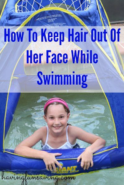 How To Keep Hair Out Of Face While Swimming Kids From Havingfunsaving The Away Swim Band Onestepahead Is A Hit At Our House Pool Oh