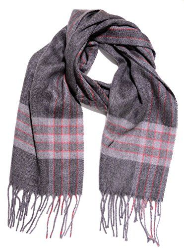 Solid Grey Geoffrey Beene Men/'s Scarf Cashmere Feel Made in Italy