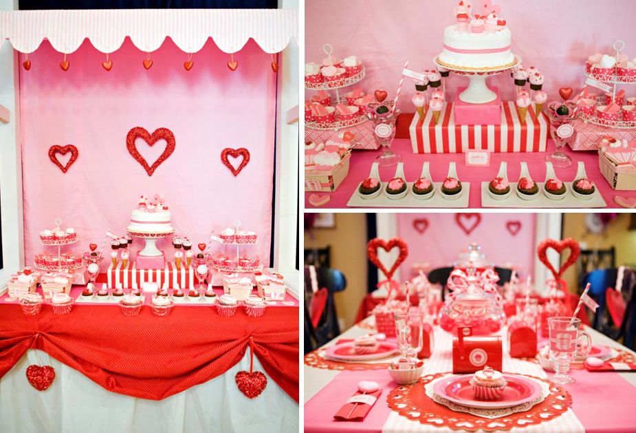 valentines day love party karas party ideas the place for all things party - Valentine Birthday Party Ideas