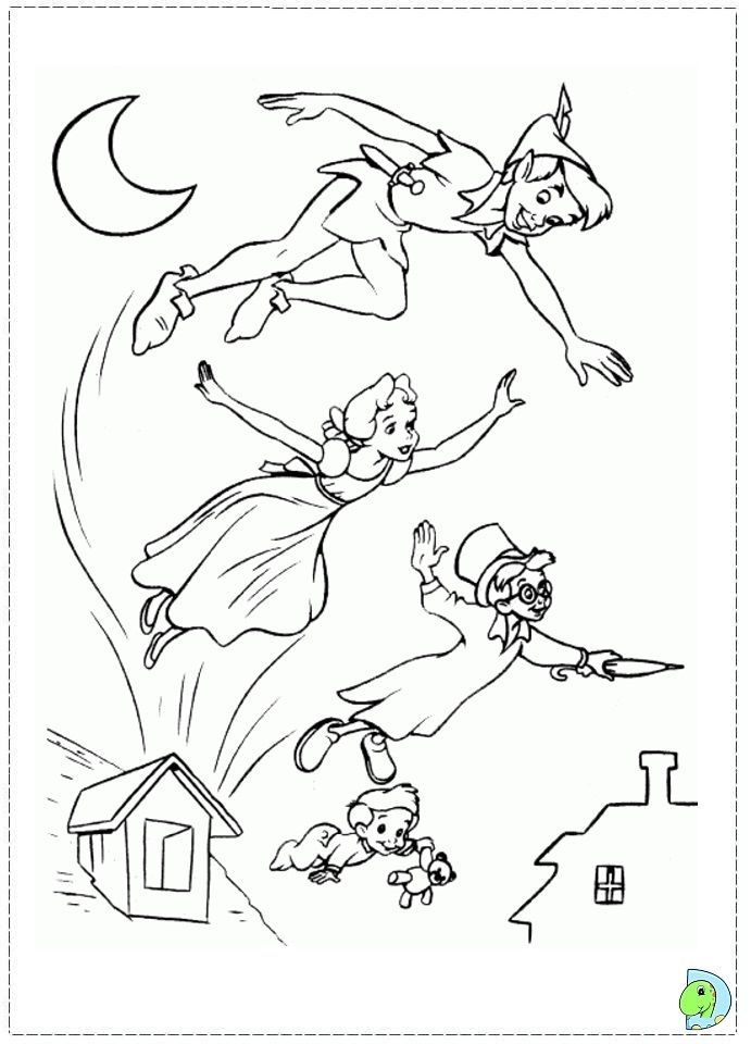 Disney Coloring Pages Peter Pan