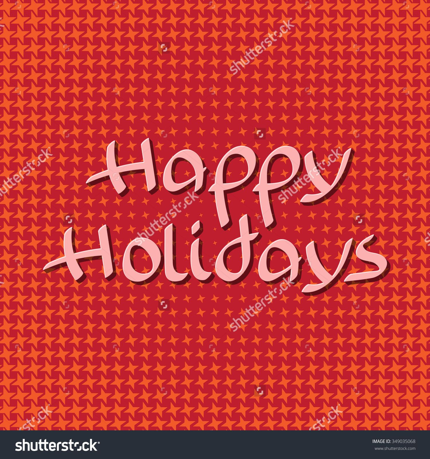 Happy Holidays Lettering On Starry Background Holiday Greeting
