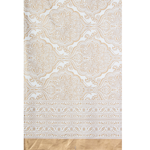 Printed 8 Seater Table Cloth 270x150cm Gold by Easter