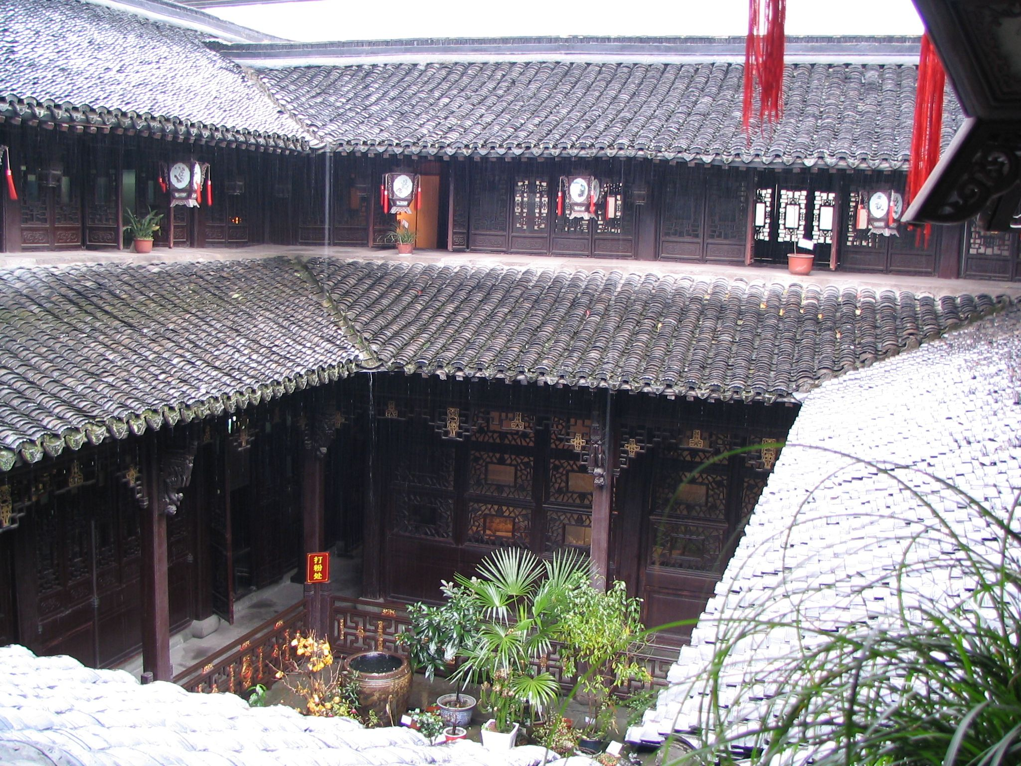 Classical Siheyuan 四合院 , courtyard surrounded by four buildings in the Hu Qingyutang Chinese Medicine Museum 胡庆馀堂 博物馆, Hangzhou 杭州, China 中国