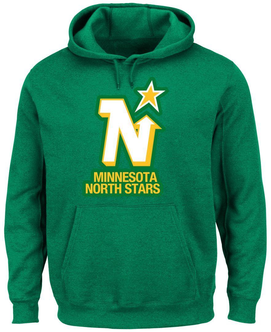 Majestic Men s Minnesota North Stars Vintage Lightweight Patch Hoodie Green  Bay a08d752e6