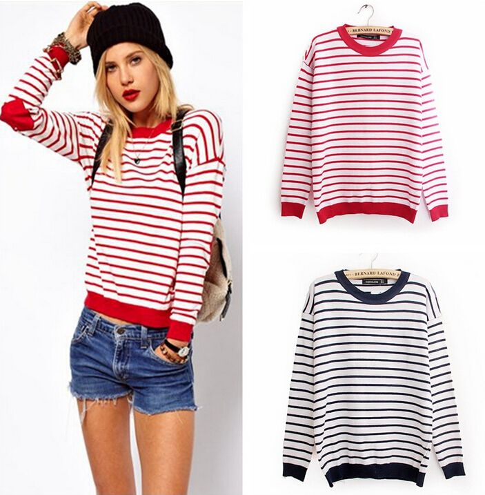 Find More Pullovers Information about Fashion Navy Blue/Red and ...
