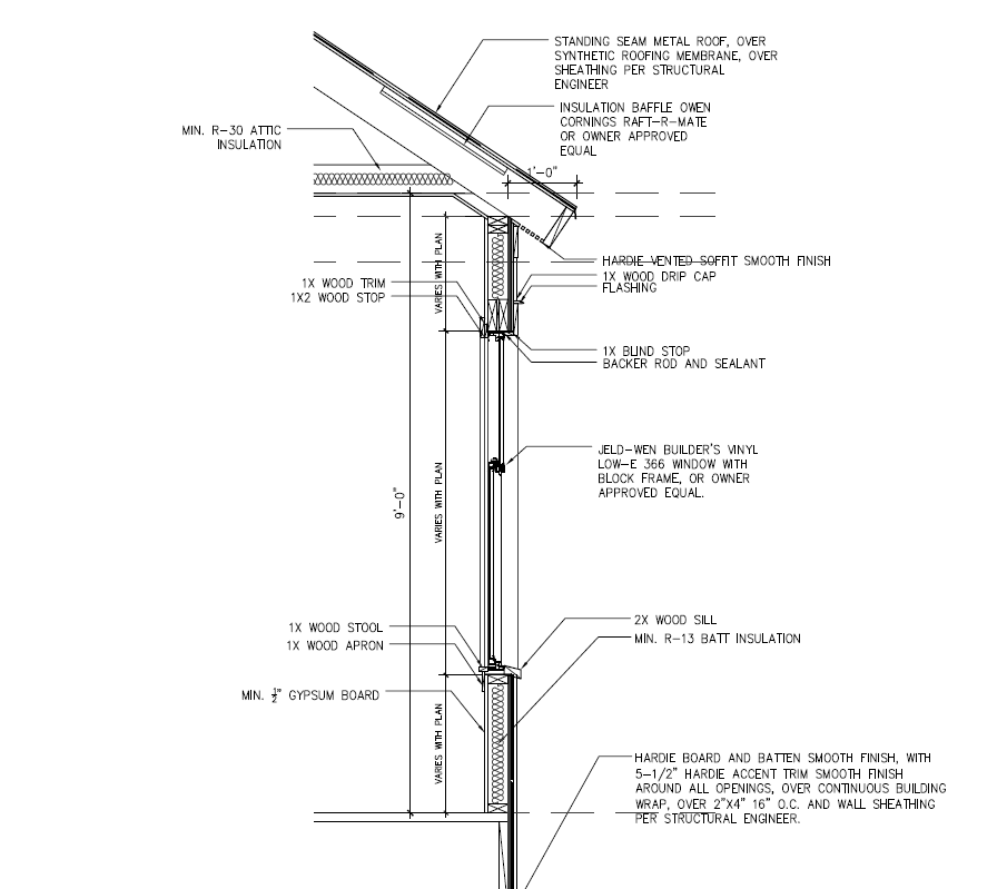 Window Section Window Sections Are Required For Window Replacement And All New Construction Projects W Synthetic Roofing Structural Engineering Standing Seam
