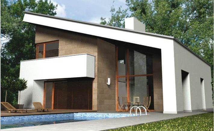 Casa pr fabricada lux m2 fachadas de casas for Casa moderna 140 m2