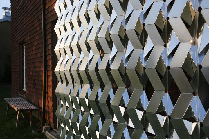 Pleated steel facade Folding facade