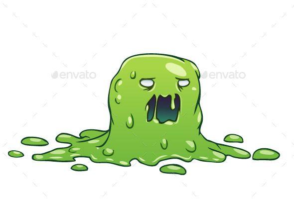 Vector Little Green Slime Monster Illustration Files Ai Eps Png Monkey Illustration Monster Illustration Creature Artwork