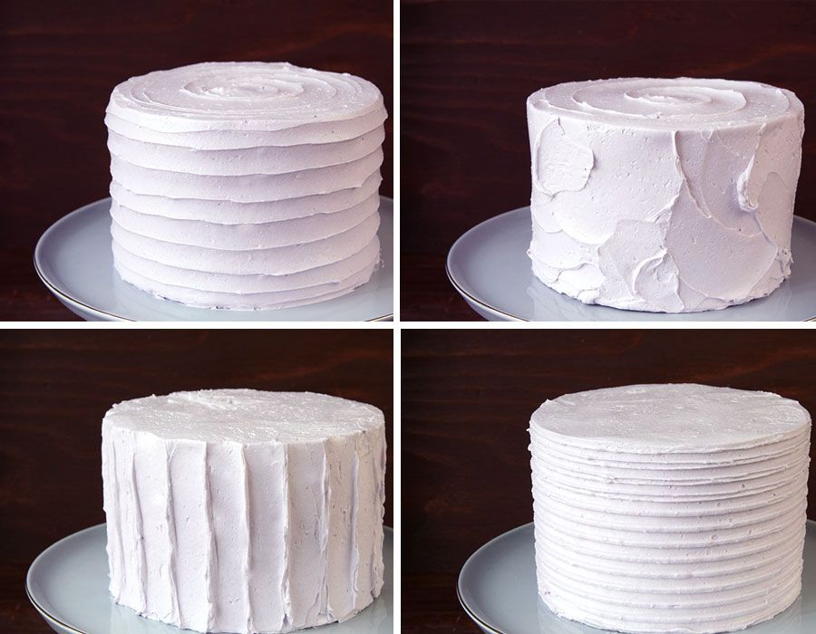 do multiple cakes, each with a different texture in buttercream... (Cake It Pretty- Easy Textured Buttercream Cake. How-to by Tessa Huff)