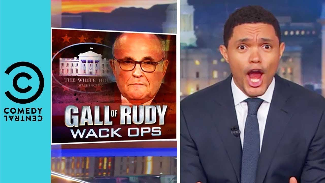 Rudy Giuliani Drops An Absolute Bombshell The Daily Show With Trevor Noah The Daily Show Rudy Giuliani Trevor Noah